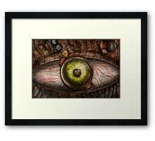 Steampunk - Creepy - Eye on technology  Framed Print