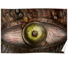 Steampunk - Creepy - Eye on technology  Poster