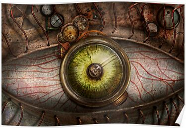 Steampunk - Creepy - Eye on technology  by Mike  Savad