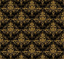 Fleurette~Two Golds on Black by Larry McFarland