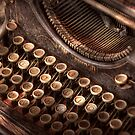 Steampunk - Typewriter - Too tuckered to type by Mike  Savad