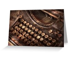 Steampunk - Typewriter - Too tuckered to type Greeting Card