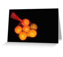 A Bag of Oranges Greeting Card