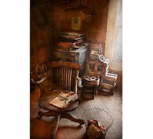 Furniture - Chair - The engineers office Photographic Print
