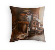 Furniture - Chair - The engineers office Throw Pillow