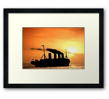 The Voyage of RMSTitanic into History Framed Print