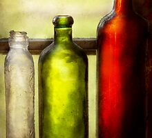 Collector - Bottles - Still life of three bottles  by Mike  Savad