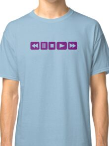 Music Player buttons Classic T-Shirt