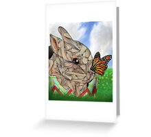 Bunny and Butterfly Greeting Card