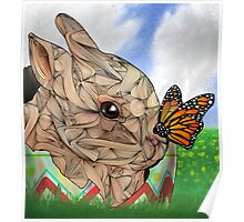 Bunny and Butterfly Poster
