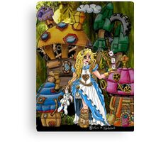 Alice in Wonderland - Steampunk style Canvas Print
