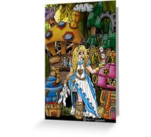Alice in Wonderland - Steampunk style Greeting Card