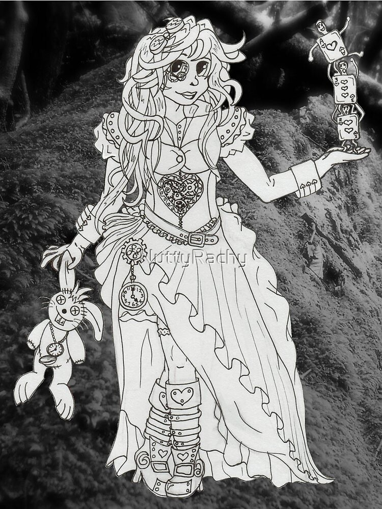 Alice in Wonderland - Black and White by NuttyRachy