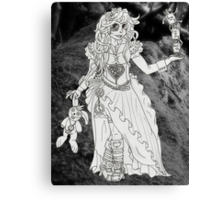 Alice in Wonderland - Black and White Canvas Print
