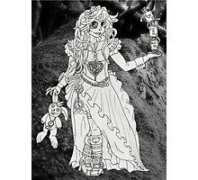 Alice in Wonderland - Black and White Photographic Print