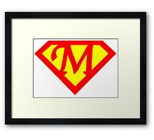 Super M Logo Framed Print