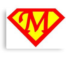 Super M Logo Canvas Print