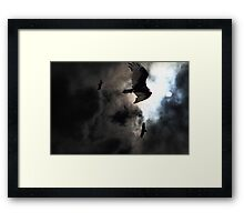 The Vultures Have Gathered In My Dreams . Version 2 . Golden Framed Print