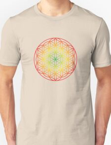 Flower of Life, Rastafarian II Unisex T-Shirt