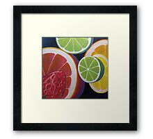 Sweet and Juicy Fruit Collage Framed Print