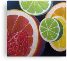 Sweet and Juicy Fruit Collage Canvas Print