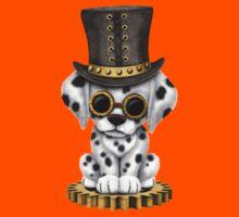 Cute Steampunk Dalmatian Puppy Dog Kids Tee