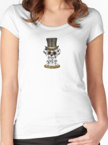 Cute Steampunk Dalmatian Puppy Dog Women's Fitted Scoop T-Shirt