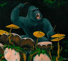 Gorilla Jungle Drums by Bart Castle