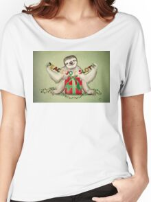 Christmas Sloth Women's Relaxed Fit T-Shirt