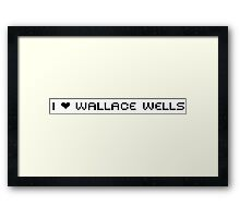 I Heart Wallace Framed Print