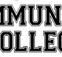 Community College Shirt Sticker