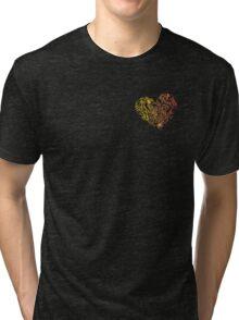 Geometric Heart_Colourful_FLC Tri-blend T-Shirt