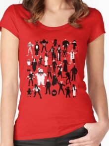 Horror Characters  Women's Fitted Scoop T-Shirt