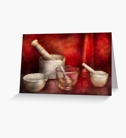 Pharmacy - Pestle - Endless variety  Greeting Card