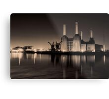 Battersea Power Station Black and gold Metal Print