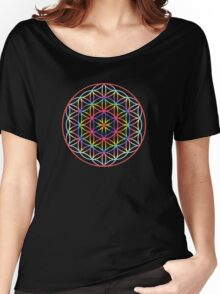 Flower of Life, Psychedelic Rainbow Women's Relaxed Fit T-Shirt