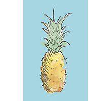 Cute Watercolor and Ink Pineapple Photographic Print