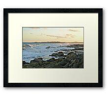 Rock Fishing: The Bluff, Iluka, NSW Framed Print