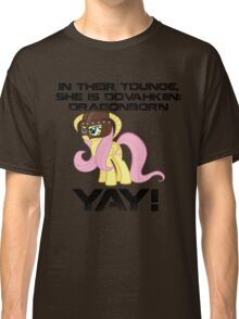 Fluttershy Dovahkiin (Text) Classic T-Shirt