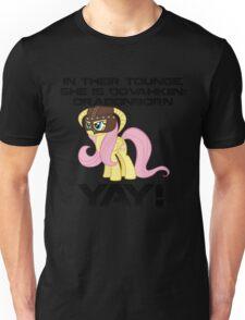 Fluttershy Dovahkiin (Text) Unisex T-Shirt