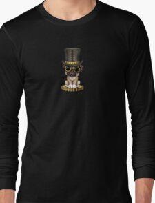 Cute Steampunk Pug Puppy Dog Long Sleeve T-Shirt