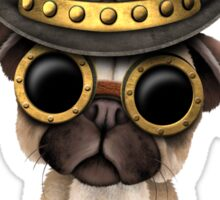 Cute Steampunk Pug Puppy Dog Sticker