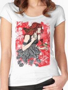 'Once upon a time there was Florence' (2) Women's Fitted Scoop T-Shirt