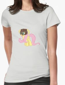 Fluttershy Dovahkiin (No Text) Womens Fitted T-Shirt
