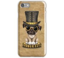 Cute Steampunk Pug Puppy Dog iPhone Case/Skin