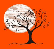 Swirly Tree and Moon - Simple and fun by martaharvey
