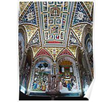 siena duomo painted ceiling Poster