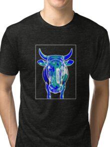 Cow Blue Green C Tri-blend T-Shirt