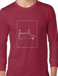 Cow Grey White E Long Sleeve T-Shirt