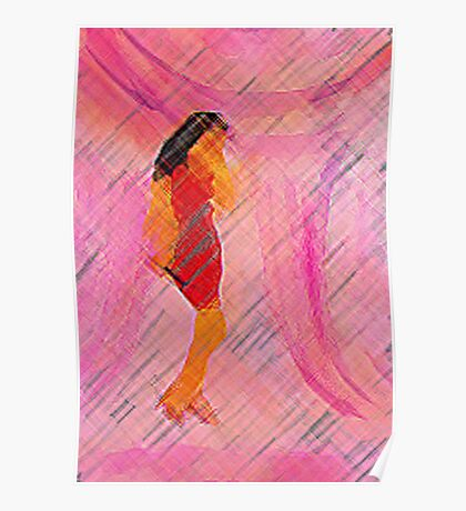 Oh she shines with her lovely voice., watercolor Poster